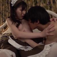 女性のための動画'「私としちゃいますか?」セックスがしてみたいという坊ちゃんの為に、いきなり騎乗位で挿入しちゃうメイドさん。