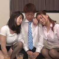 酔っ払った女上司2人に誘われて、、、。性欲モンスターな女上司2人と平田つかさくんのいやらしい3Pセックス - イメージ画像
