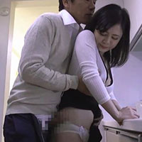 義父の田淵さんに元彼との不倫がバレ関係を迫られる若奥さん